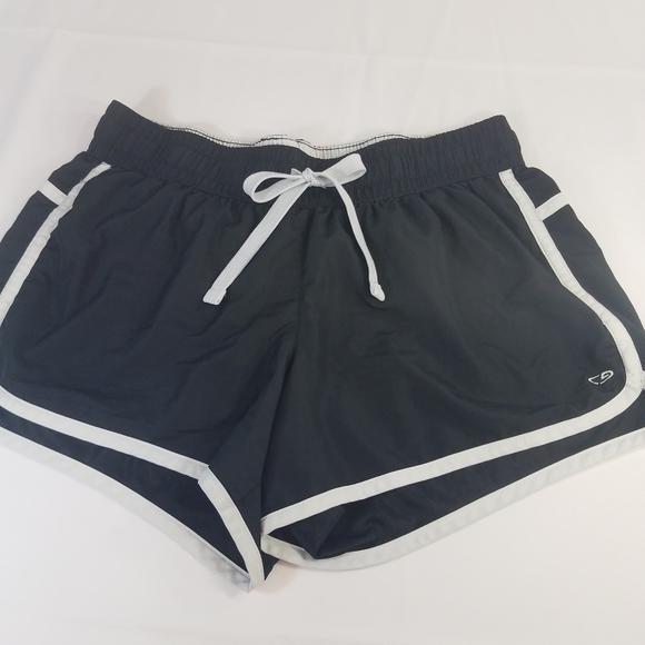 Champion Pants - Champion Athletic Shorts Black Drawstring Waist